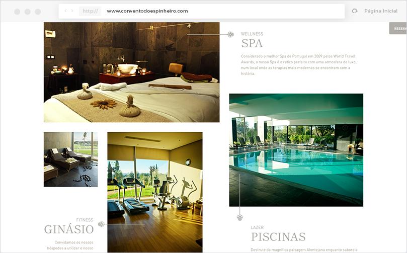 Convento do Espinheiro Website - Página Inicial