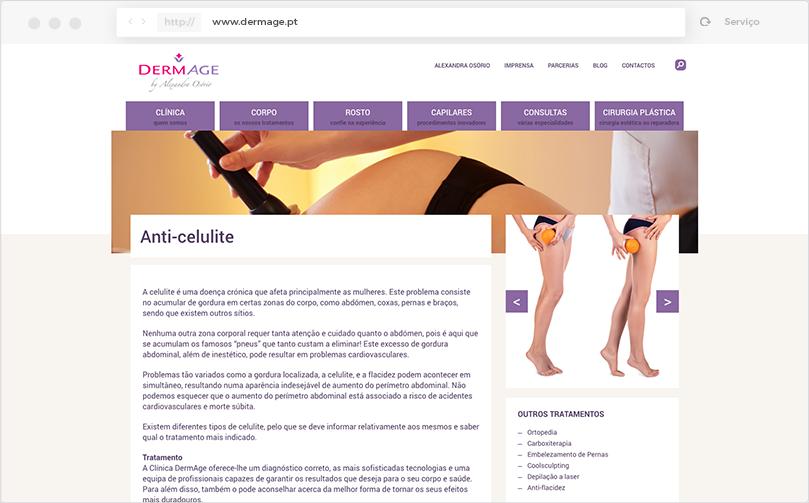 Clínica DermAge Copywriting - Serviço
