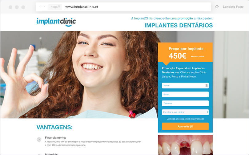 ImplantClinic - Landing Page