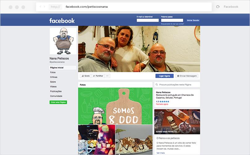 Nana Petiscos - Facebook