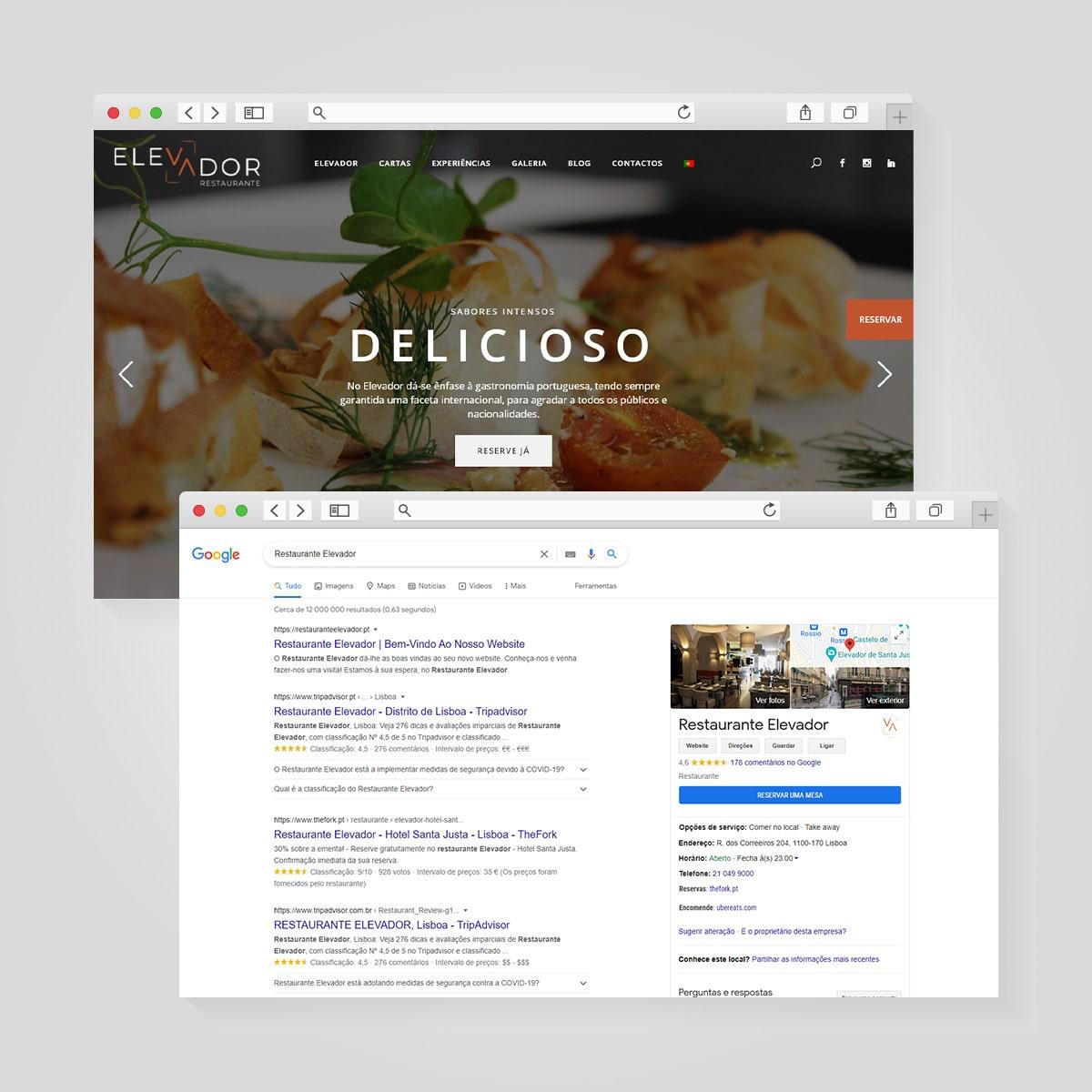 SEO Restaurante Elevador