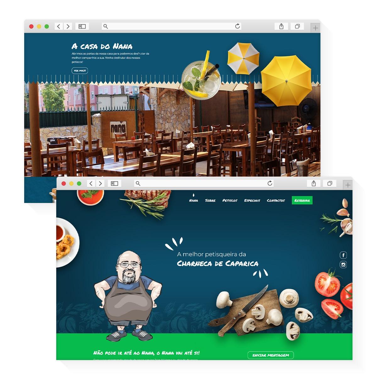 Website Nana Petiscos