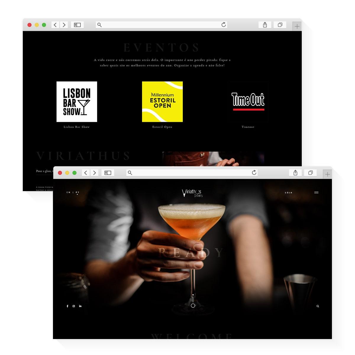 Website Viriathus Drinks